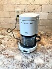 Braun 4 Cup Coffee Maker 3075 White Tested Original Carafe Vintage