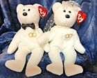 TY BEANIE BABY BRIDE AND GROOM SET - 2001 - NEW