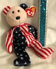 TY Beanie Baby Spangle the Bear - Patriotic - Pink face Retired New w/ swing tag