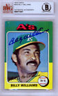 Billy Williams Autographed Signed Auto 1975 Topps Card #545 Cubs Beckett 9772807
