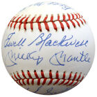 1953 Yankees Autographed AL Baseball 16 Sigs Mickey Mantle Berra Beckett A88603