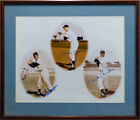 Mickey Mantle, Mays & Snider Autographed Framed 11x14 Photo Beckett COA A74706