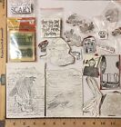Unmounted Halloween Rubber Stamps LOT Mixed Media Unique Words Crows Witch