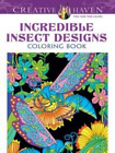 Creative Haven Incredible Insect Designs Coloring Book (Creative Haven CD NEW