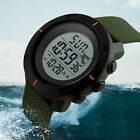 Mens Waterproof Military Count Down Timer Sport Digital Stopwatch Wrist Watch US