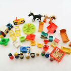 Vintage Fisher Price Little People Mixed Lot of Cars Furniture Baby People