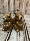 Fall Harvest Ceramic Squirrel Salt  Pepper Shakers 2pc Set Thanksgiving Autumn