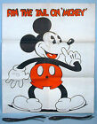 1935 Pin the Tail on Mickey Mouse Party Game Marks Bros Walt Disney Enterprises