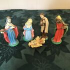 Vintage Nativity Christmas Figurines Hand Painted Made in Italy Jesus