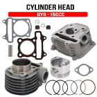 New Cylinder Head Piston Gasket Engine Rebuild Kit For GY6 150cc Chinese Scooter