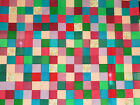 Unfinished Quilt Top 4 Asst Blocks Various colors approx 72 x 80