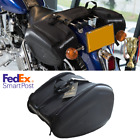 Black Waterproof Motorcycle Saddle Bags Luggage Case Universal Tail Saddlebag 2x