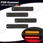 For 2003 2009 HUMMER H2 Smoked LED Side Marker Light Front Rear Set Amber Red 4X