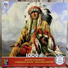 Ceaco 1000 Piece Jigsaw Puzzle Native American Indian Portrait w Poster