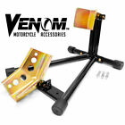 Front Wheel Motorcycle Stand Wheel Chock Locking Racing Stand Trailer Hold Down