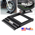 Scooter Motorcycle Tire Stand Wheel Roller Chain Cleaning Ramp Lift Tool US Ship