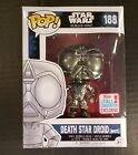 Funko Pop NYCC DEATH STAR DROID WHITE Star Wars #188 Vaulted 2017 FREE PROTECTOR