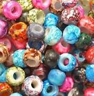 + Marble Mixed Colors Glass Crow Beads 30