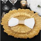 Holiday Savings Table Coral Glass Charger Plate 12 Pack for Events Floral Design