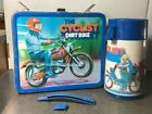 Vintage 1979 The Cyclist Moped Dirt Bike Lunchbox With Thermos
