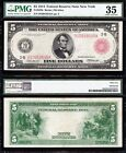 Awesome RARE Choice VF++ 1914 5 New York RED SEAL FRN Note PMG 35 B10918545