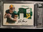 2016 Panini Flawless Brett Favre Auto Game Used Dual Patch Jersey Packers 1 2!!
