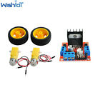 Smart Car Robot Plastic Tire Wheel With Dc 3-6v Gearbox Motor For Arduino