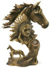 The spirit of the Native warriors and the Majestic Horse Bust Bronze Effect SALE