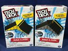 2 NEW Tech Deck BUILD A PARK Sets LAUNCH to QUARTER PIPE Kicker to 6 Stair Rail