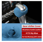 Alcantara Suede Leather Gear Shift Knob Cover Sticker For Ford Mustang 2015-2020