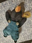 Retired 1993 Blackie Beanie Baby. P.V.C. Pellets. With original clothing.
