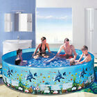 Inflatable Swimming Pool Blow Up Pool for Family Kids Backyard Foldable 48 59