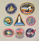 NASA PATCHES LOT of 8 Space Program  Shuttle STS Missions Vector Logo ++++