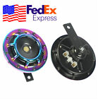 12V Colorful Car 110DB Loud Horn Compact Electric Tone Noise Maker Truck USA 2x