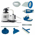 Intex 2800 GPH Above Ground Pool Sand Filter Pump w Deluxe Pool Maintenance Kit