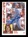 Pete Rose Autographed Auto 1984 Topps Card #300 Philadelphia Phillies 175601