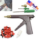 Scooter Bike Tubeless Tire Wheel Repair Gun Kit Rubber Puncture Plug Patch USA