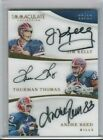 Jim Kelly Thurman Thomas Andre Reed 2017 Immaculate Tri Autograph AUTO 10 BILLS