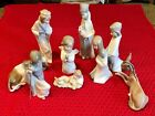 Lladro Childrens Nativity 9 Piece Set