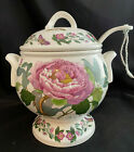 PORTMEIRION BOTANIC GARDEN SHRUBBY PEONY PASSION FLOWER SOUP TUREEN LID w LADLE