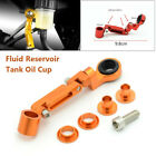 Aluminum Brake Clutch Master Cylinder Fluid Reservoir Tank Oil Cup Motorcycle