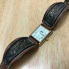 Vintage VGT Lady Hot Style Rectangle Fancy Cuff Quartz Watch Hours New Battery