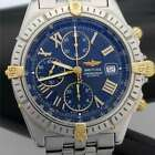 BREITLING Chronograph Automatic Model B13055 *AS-IS* 18k & S. Steel WB2-BW2