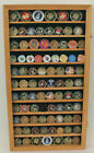 Large Challenge Coin Display Case Cabinet Pin Medal Real Glass COIN2 OA