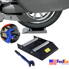 Durable Motorcycle Wheel Roller Ramp Stand Lift & Tire Chain Cleaning Brush Kit