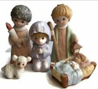 Adorable Homco Nativity Scene 5602 Set 5 Piece Children Christmas Set