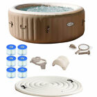 Intex Pure Spa 4 Person Inflatable Portable Hot Tub Ultimate Bundle Spa Package