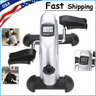 Portable Exercise Bike Hands Feet Trainer Foot Pedal LCD Bicycle Home Use