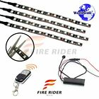 For Cagiva Raptor 4 Pcs RGB Light Strips 190mm Bendable Fairing Frame Design
