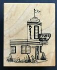 Rare TOWER MOTEL VACANCY SIGN BUILDING STRUCTURE PSX F 3621 Wood Rubber Stamp